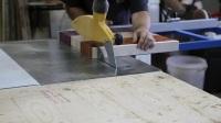 mtmwood木工拼板 阿卡迪亚旗帜 Making Flag of Acadia end grain cutting board