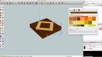 mtmwood木工拼板 Sketchup绘图切板 SketchUp Drawing a Square in a square end