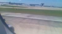 飞机降落houston的过程