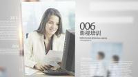 017简介干净企业展示相册商务人士风格图文视频包装AE模版