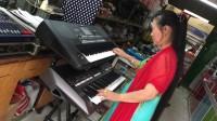 双电子琴演奏视频《红豆红》
