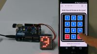 Web based keypad with PHPoC WiFi Shield for Arduino