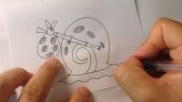 金龙手绘.海绵宝宝的宠物-小蜗