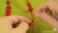 macrame school视频教程,手工编绳,创意心形手链
