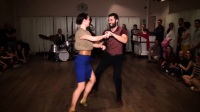 Slow Lindy, Blues and Lindy hop demo by Fabien _ Lisa Torino 2016