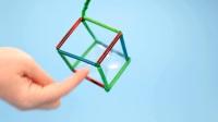 趣味DIY实验 四边形的泡泡  3-8岁亲子创客游戏 方形泡泡 益智启蒙 佩奇乔治 手工DIY 趣味游戏 亲子
