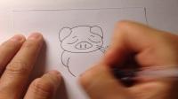 儿童简笔画.可爱的小猪