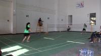 羽毛球女子单打决赛 望谟六中(滕远梅)VS望谟六中(岑如倩)第二局
