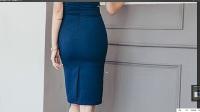 山本教育服装打版镂空紧身连衣裙纸样-3