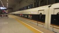 京沪高铁京津段(在天津南站内拍车)——复兴号G8停车