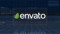 科技企业数据分析数字信息落版文字标题LOGO标志展示片头开场AE模板