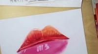 彩铅超写实3D红唇
