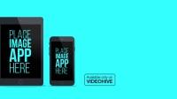 扁平化手机移动设备应用程序推广宣传 手势点击滑动APP展示介绍企业商品动画AE模板