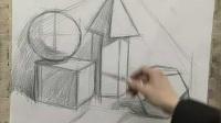中国美院素描几何体组合(球体,正方体,六面柱体,四棱锥,十二面体
