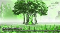 西方极乐世界看到一万米的高的菩提树下一尊佛在打坐进入禅定状态
