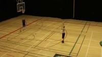FIBA篮球胯下运球接背后运球投篮 运球变向后投篮练习