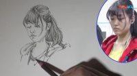 郝良月——女青年速写画法2