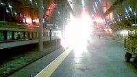 K57次正点到达天津站进四站台