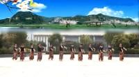 応舞翩翩安徽淮南莺歌燕舞健身队《水边的格桑梅朵》
