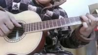 河南制作琴师闫老师的手工吉他非洲红花梨单板背侧云杉单板测试