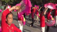 2双扇舞 红红的中国结 泰和长寿健身队表演2019.9.28