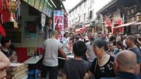 2019年10月,重庆瓷器口旅游遇见手工酸辣粉店妖娆的叫卖