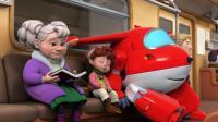超级飞侠:乐迪这是要混入人类生活吗,还坐上地铁了,都不飞了