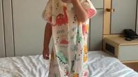 超人豆豆夏季纱布睡袋