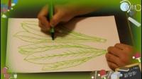 画油麦菜,小学生学画画视频教程,零基础自学绘画技巧教学,乐成宝贝