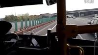 上海松江公交松梅专线公交车新版申沃高速客车梅陇(汽车站)→松江大学城(枢纽站)
