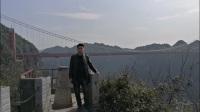 画家刘鹏凯矮寨大桥采风