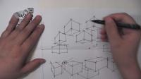 罗丹美术手绘——两点透视