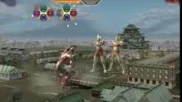 奥特曼格斗进化3艾斯初代双人闯关《雷》