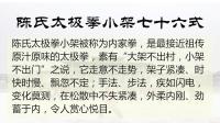 陈天森——陈氏太极拳小架76式