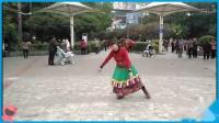 梧州旺城拥军广场舞《爱在思金拉措》2019舞友手机拍摄