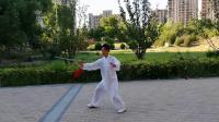 姜老师42式太极剑背面