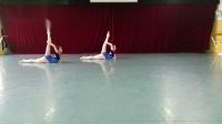 少儿舞蹈技巧专业舞蹈教材舞蹈教学视频分享之肘撑前软翻接反拉肩前抢脸(反面)
