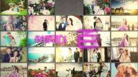 34可添加96张照片的温馨唯美婚礼店主相册视频 结婚相册 鼠年年会 图片墙 同学会