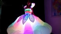 定制LED发光充气服装,舞台演出LED发光裙子