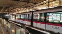 上海轨道交通1号线列车进出共康路站(AC06型)
