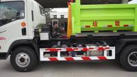 钩臂车垃圾车绿色新中绿加油出发