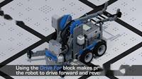 3.VEXcode IQ Blocks 机器人 直行编程示例