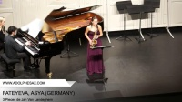 Dinant  2014 - Fateyeva, Asya - 3 Pieces by Jan Van Landeghem