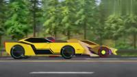 变形金刚:大黄蜂和第一名追逐,汽车人比赛,就是为了统治公路