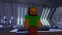MC动画:怪物们开高达机甲对抗丧尸巨兽!