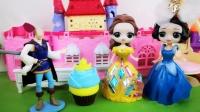 王子砖石不够了,只买了一个蛋糕,想着让俩位公主分的吃