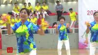 2020浙江省老年人健身球操交流展示活动. 杭州西湖队表演