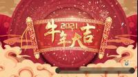 S2595 牛年 2021绿屏抠像 春节拜年祝福边框特效开场片头 剪映 PR ED视频素材