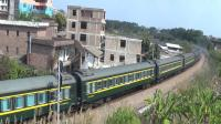 2021年春节大年初一拍火车——DF4DK3174花老虎牵引T82次列车离开玉林站,往北流方向