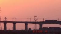 蒙华铁路山西运城盐湖段日落时